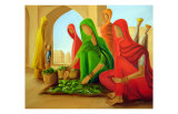 Vegetable Seller Prints by Sukhpal Grewal