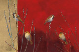 Sparrows in Willow Poster von Ellen Granter