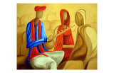 Musician with Women Posters by Sukhpal Grewal