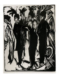 Five Cocottes Prints by Ernst Ludwig Kirchner