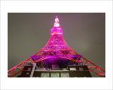 Tokyo Tower: Pink Ribbon Day II Prints by Takashi Kirita