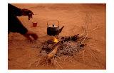 Bedouin Desert Breakfast, Jordon-Wadirum Kunstdrucke von Charles Glover