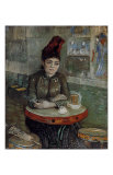 Woman at a Table in the Cafe du Tambourin Plakater af Vincent van Gogh