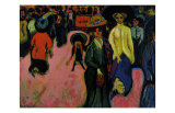 Street, Dresden Prints by Ernst Ludwig Kirchner