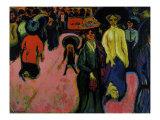 Street, Dresden Prints by Ernst Ludwig Kirchner