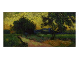 Landscape at Twilight Giclee Print by Vincent van Gogh