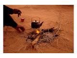 Bedouin Desert Breakfast, Jordon-Wadirum Prints by Charles Glover