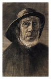 Fishman with a Sou'wester Poster by Vincent van Gogh