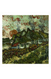 Cottages and Setting Sun Giclee Print by Vincent van Gogh