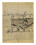 Sketch of the Sower in a Letter to Emile Bernard Giclee Print by Vincent van Gogh
