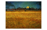 Summer Evening Near Arles Giclée-Druck von Vincent van Gogh