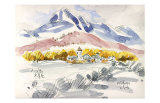 Dignified Plateau Scenery in Severe Winter Time Poster by Kenji Fujimura