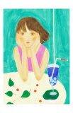 Soda Pop and a Girl in a Turquoise Afternoon Prints by Hiromi Taguchi