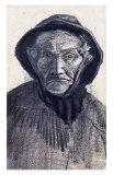 Fishman Wearing a Sou'wester Prints by Vincent van Gogh