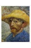 Self-Portrait with Straw Hat Prints by Vincent van Gogh