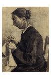 Sien Sewing Prints by Vincent van Gogh