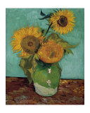 Sunflowers, First Version 高画質プリント : フィンセント・ファン・ゴッホ