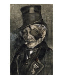 Orphan Man in Sunday with Eye Bandage Art by Vincent van Gogh