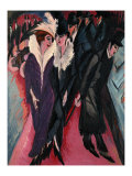 Street, Berlin Posters by Ernst Ludwig Kirchner