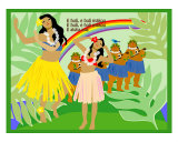 Hula Girls in Paradise Island, Hawaii Posters by Noriko Sakura
