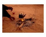 Bedouin Desert Breakfast, Jordon-Wadirum Poster von Charles Glover