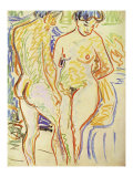 Standing Nude Couple Posters by Ernst Ludwig Kirchner