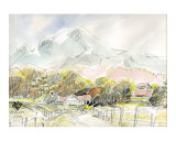Ranch in Plateau, Scenery of Spring Prints by Kenji Fujimura