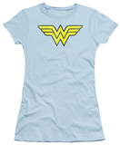 Juniors: DC Comics - Wonder Woman Logo - Distressed T-shirts