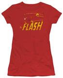 Juniors: DC Comics - The Flash - Speed Distressed T-shirts