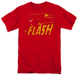 DC Comics - The Flash - Speed Distressed T-shirts