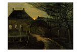 The Parsonage at Nuenen at Dusk, Seen from the Back Giclee Print by Vincent van Gogh