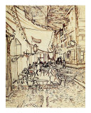 Study for the Cafe Terrace at Night Giclée-tryk af Vincent van Gogh