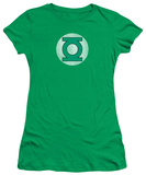 Juniors: DC Comics - Green Lantern Logo - Distressed T-Shirt