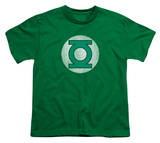 Youth: DC Comics - Green Lantern Logo - Distressed T-shirts