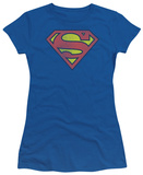 Juniors: DC Comics - Superman - Retro Logo Distressed T-Shirt