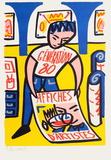 Affiches d'artistes Serigrafiprint (silkscreentryck) av Francois Boisrond