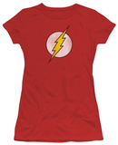 Juniors: DC Comics - The Flash Logo - Distressed Shirt
