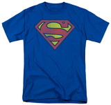 Superman - Distressed Retro Logo T-shirts