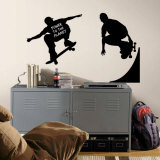 Silhouettes de skateurs en ombres chinoises : stickers muraux Autocollant mural