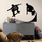 Skaters lavagna (sticker murale) Decalcomania da muro