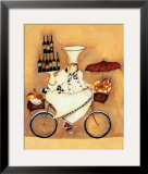 Wine Peddler Print by Jennifer Garant