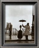 Musician in The Rain Print by Robert Doisneau