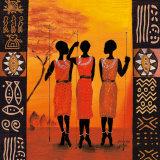 Three Hunters Posters av Izabella Dahlke