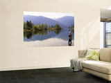 Fishing, Lewiston Lake, California, USA Wall Mural
