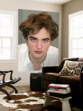 Robert Pattinson Väggmålning