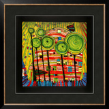 The Blob Grows in the Beloved Gardens, 1975 Prints by Friedensreich Hundertwasser