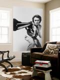 Clint Eastwood Wandgemälde