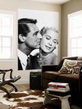 Cary Grant et Grace Kelly reproduction murale géante