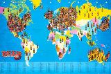 Carte du monde de la bière Affiche