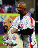Yogi Berra &amp; Darryl Strawberry Final Game at Shea Stadium 2008 Photo